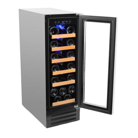 "Image of Smith & Hanks RW58SR 12"" Wide 19 Bottle Signature Single Zone Wine Cooler RE100005 - Smith & Hanks - 19 Bottles"
