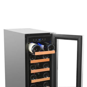 "Smith & Hanks RW58SR 12"" Wide 19 Bottle Signature Single Zone Wine Cooler RE100005 - Smith & Hanks - 19 Bottles"