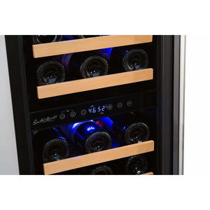 "Smith & Hanks RW88DR 15"" Wide 32 Bottle Signature Dual Zone Wine Cooler RE100006 - Smith & Hanks - 32 Bottles"