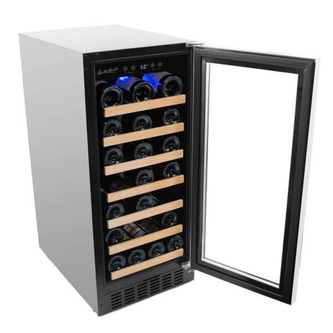 "Smith & Hanks RW88SR 15"" Wide 34 Bottle Signature Single Zone Wine Cooler RE100007 - Smith & Hanks - 34 Bottles"