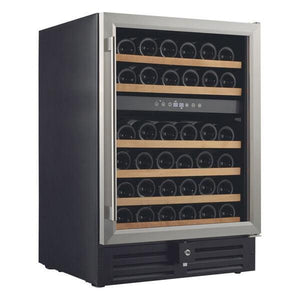 "Smith & Hanks RW145DR 24"" Wide 46 Signature Dual Zone Wine Cooler RE100002 - Smith & Hanks - 46 Bottles"
