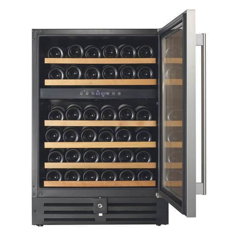 "Image of Smith & Hanks RW145DR 24"" Wide 46 Signature Dual Zone Wine Cooler RE100002 - Smith & Hanks - 46 Bottles"