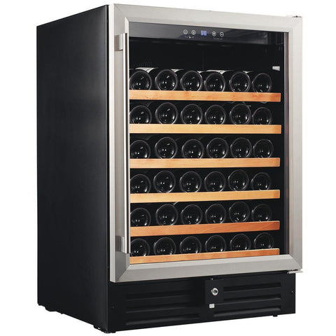 "Image of Smith & Hanks RW145SRE 24"" Wide 46 Bottle Signature Single Zone Wine Cooler RE100001 - Smith & Hanks - 46 Bottles"