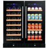 "Smith & Hanks RW145SRE 24"" Wide 46 Bottle Dual Zone Beverage & Wine Cooler RE100011 - Smith & Hanks - Out Of Stock"