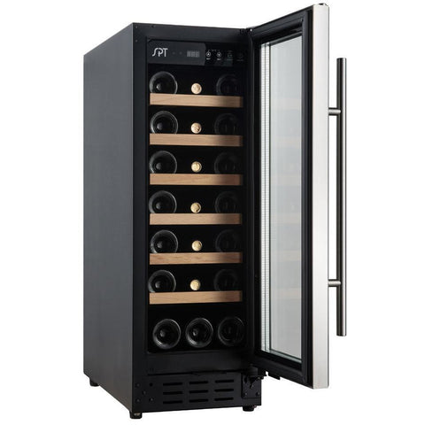 "Image of SPT WC-2193W 21 Bottles 12"" Wide Single Zone Under Counter Wine Center Commercial Grade - SPT - 21 Bottles"