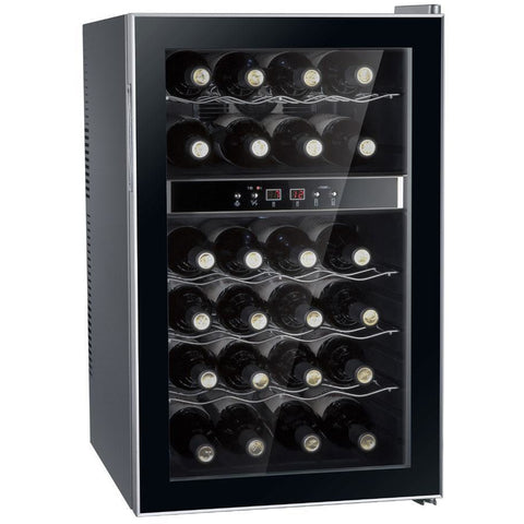 "SPT WC-2462M 24 Bottles 18"" Wide Dual Zone Freestanding Thermo-Electric Wine Cooler - SPT - 24 Bottles"