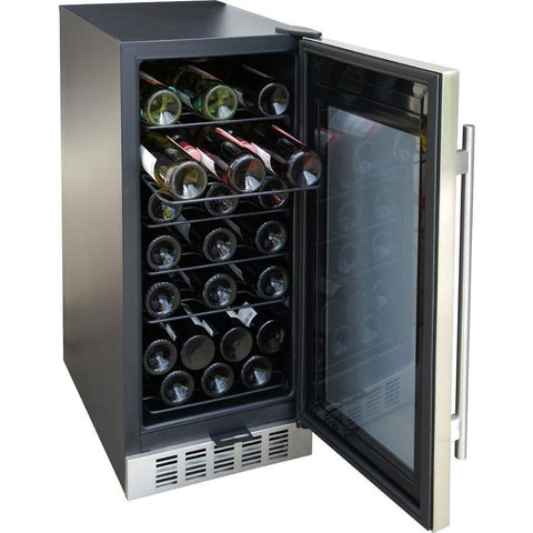 "SPT WC-31U 32 Bottles 15"" Wide Single Zone Under Counter Wine Center - SPT - 32 Bottles"