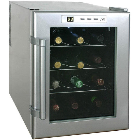 "SPT WC-12 12 Bottles 10.75"" Wide Freestanding Thermo-Electric Wine Cooler - SPT - 12 bottles"