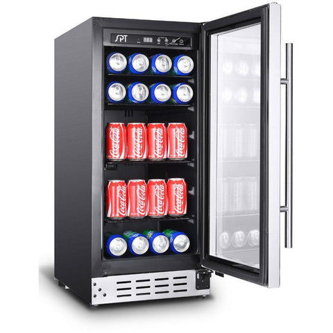 "Image of SPT BC-92US 92 Can 15"" Wide Single Zone Under Counter Beverage Center - SPT - 92 BC"