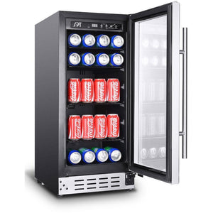 "SPT BC-92US 92 Can 15"" Wide Single Zone Under Counter Beverage Center - SPT - 92 BC"