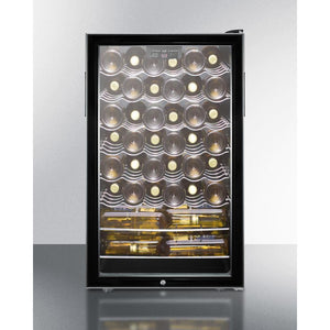 "Summit SWC525L wine cellar  40 bottles 20"" wide freestanding with lock and digital thermostat - Summit - 40 Bottles"
