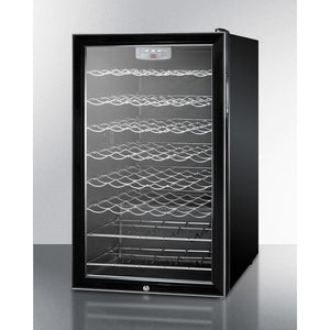 "Summit SWC525LBIADA ADA compliant 20"" wide wine cellar for built-in use, with lock and digital thermostat 40 bottles - Summit - 40 Bottles"