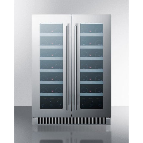 "Image of Summit  CLFD24WC Wine Cooler 24"" Dual Zone 42 Bottles Built-in or Freestanding - Summit - 42 Bottles"