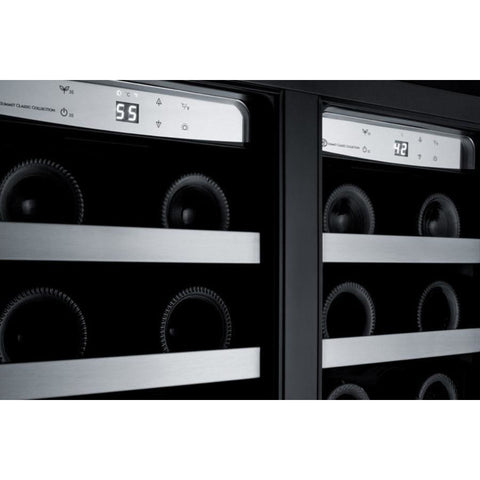 "Summit  CLFD24WC Wine Cooler 24"" Dual Zone 42 Bottles Built-in or Freestanding - Summit - 42 Bottles"