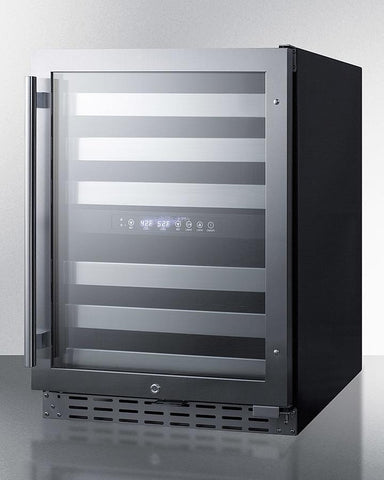 "Image of Summit 46 Bottles Black Summit ALWC532 Wine Cooler 46 Bottles 23.5"" Dual Zone"