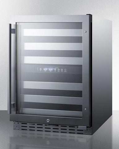 "Image of Summit 46 Bottles Stainless Steel Summit ALWC532 Wine Cooler 46 Bottles 23.5"" Dual Zone"