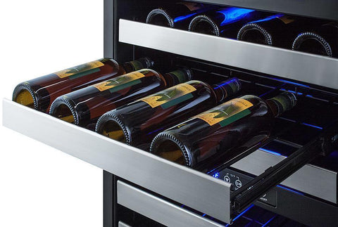 "Summit 46 Bottles Summit ALWC532 Wine Cooler 46 Bottles 23.5"" Dual Zone"