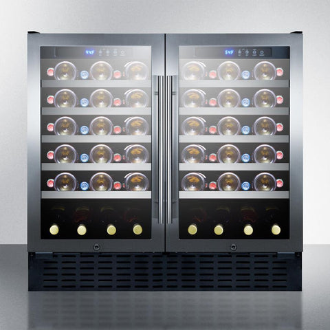 "Image of Summit SWC3668ADA Wine Cellar 68 bottles 36"" wide ADA compliant w/ built-in dual zone - Summit - 68 Bottles"