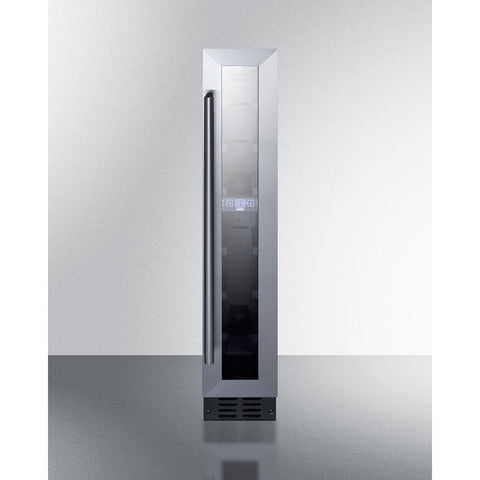 "Image of Summit SWC007 Wine Cooler 7 Bottles 6"" Single Zone Black Built-in Under-counter ADA compliant - Summit - 7 bottles"