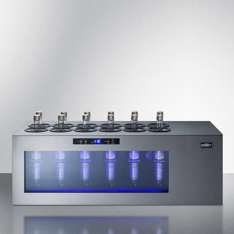 Image of Summit Commercial 12 bottles Summit Commercial STC12 Wine Cooler Countertop commercial in stainless steel with compressor 12 bottles