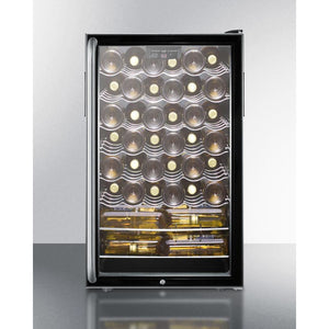 "Summit Commercial SWC525L7SHADA Wine Cellar 40 bottle  20"" wide freestanding - Summit Commercial - 40 Bottles"