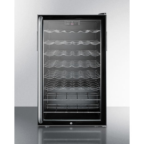 "Image of Summit Commercial SWC525L7SHADA Wine Cellar 40 bottle  20"" wide freestanding - Summit Commercial - 40 Bottles"