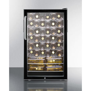 "Summit Commercial SWC525L7TB Wine Cellar 40 bottles 20"" wide freestanding - Summit Commercial - 40 Bottles"