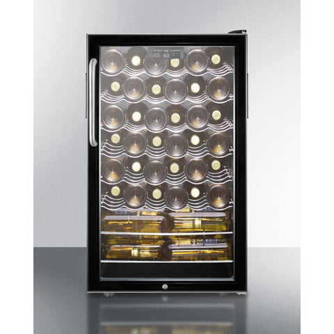 "Image of Summit Commercial SWC525L7TBADA Wine Cellar 40 bottle  20"" wide freestanding - Summit Commercial - 40 Bottles"