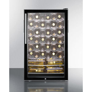"Summit Commercial SWC525LBI7HVADA Wine Cellar 40 bottles  20"" wide for built-in use digital thermostat - Summit Commercial - 40 Bottles"
