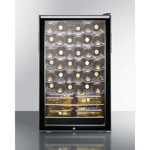 "Summit Commercial SWC525LBI7HHADA Wine Cellar 40 bottles  20"" wide with lock, digital thermostat - Summit Commercial - 40 Bottles"