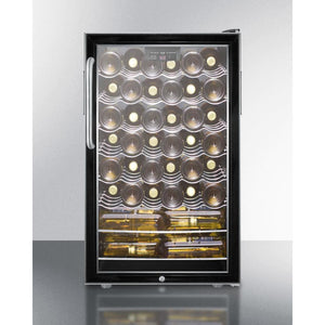 "Summit Commercial SWC525L7CSS Wine Cellar 40 bottles Commercially Listed 20"" wide for built-in use - Summit Commercial - 40 Bottles"