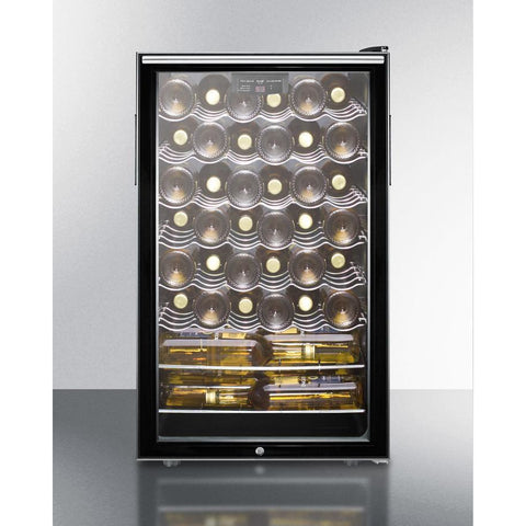 "Image of Summit Commercial SWC525L7HV Wine Cellar 40 bottles 20"" wide freestanding with lock and digital thermostat - Summit Commercial - 40 Bottles"