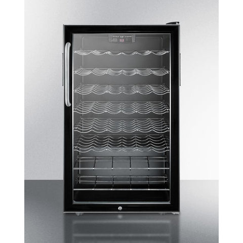 "Image of Summit Commercial SWC525L7TB Wine Cellar 40 bottles 20"" wide freestanding - Summit Commercial - 40 Bottles"