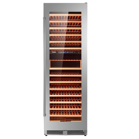 "Image of Thor Kitchen 162 Bottles Copy of Thor Kitchen 24"" 162 Bottle Dual Zone Freestanding Wine Cooler TWC2403DI"