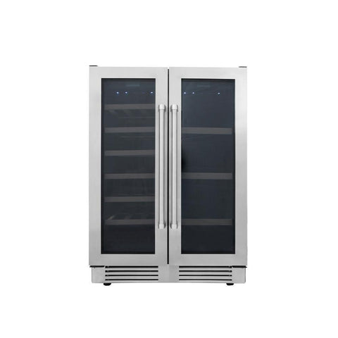 "Image of Thor Kitchen Wine Center- 24"" Wide 21 Bottles Dual Zone w/Stainless Steel Dual Door TBC2401DI - Thor Kitchen - 21 Bottles"