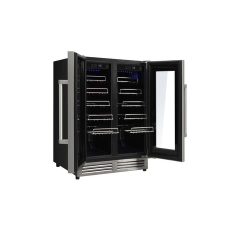 "Image of Thor Kitchen Wine Cooler- 23.5"" Wide 42 Bottles Dual Zone w/Stainless Steel Dual Door TWC2402 - Thor Kitchen - 42 Bottles"