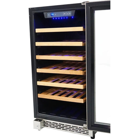 "Thor Kitchen Wine Cooler- 18"" Wide 40 Bottles Single Zone HWC2405U - Thor Kitchen - 40 Bottles"