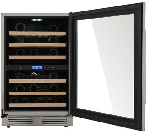 "Image of Thor Kitchen 46 Bottles Thor Kitchen Wine Cooler TWC2401DO- 24"" Wide 46 Bottles Dual Zone"