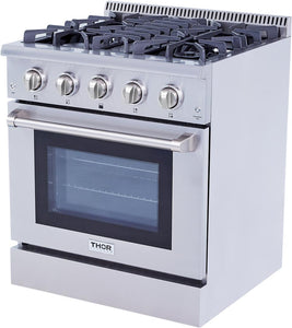"Thor Kitchen Gas Range Thor Kitchen HRD3088U- 30"" Professional Gas Range"