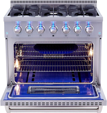 "Thor Kitchen Gas Range Thor Kitchen HRD3606U- 36"" Professional Gas Range"