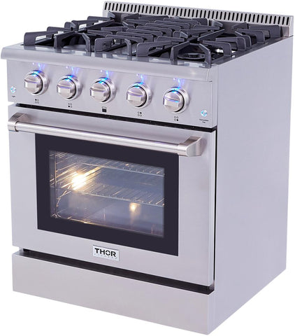 "Thor Kitchen Gas Range Thor Kitchen HRG3080- 30"" Professional Gas Range"