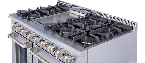 "Thor Kitchen Gas Range Thor Kitchen HRG4808U- 48"" Professional Gas Range"