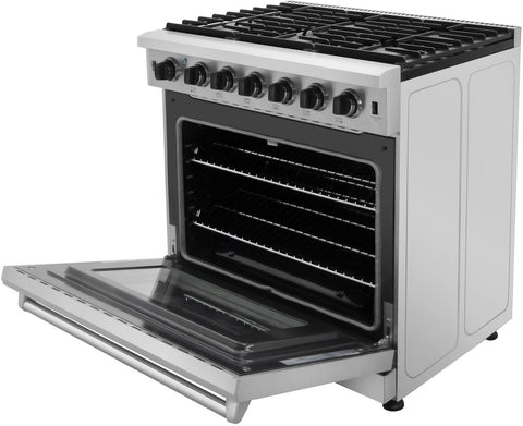"Image of Thor Kitchen Gas Range Thor Kitchen LRG3601U- 36"" Professional Gas Range"