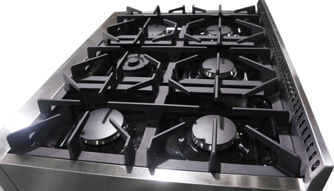 "Image of Thor Kitchen Gas Rangetop Thor Kitchen HRT3618U- 36"" Natural Gas Rangetop with 6 Burners"