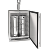 "U-Line UOKR124-SS01A Outdoor Solid Keg/Ref 24"" Wide Reversible Hinge Stainless - U-Line - 111 Bottles"