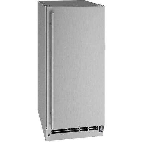 "U-Line UORE115-SS01A Outdoor Refrigerator 111 Bottle Built In 15"" Wide w/ Reversible Hinge Stainless Steel Cabinet - U-Line - 111 Bottles"
