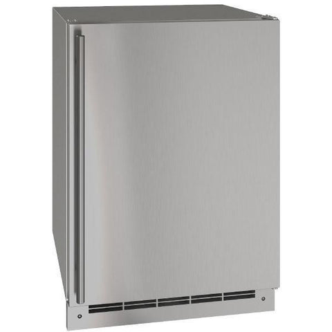 "Image of U-Line UORE124-SS01A 1 Outdoor Refrigerator 117 Bottle Solid Refrigerator 24"" Wide w/ Reversible Hinge Stainless Steel Cabinet - U-Line - 117 Bottles"