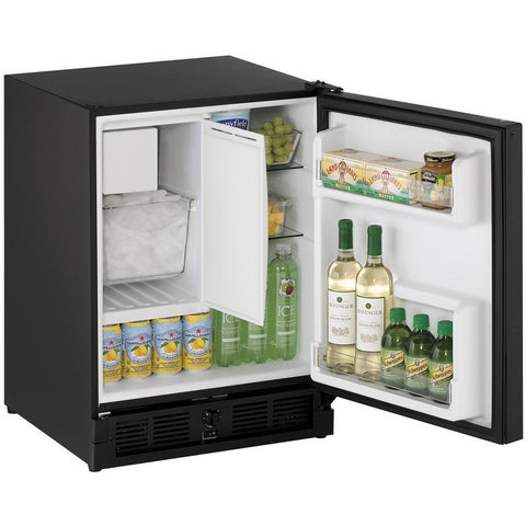 "U-Line  U-CO29FB-00A Refrigerator 24 Bottle 21"" Wide Black Cabinet w/ Reversible Hinge - U-Line - 24 Bottles"