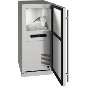 "U-Line UONB115-SS01A Ice Machine 15"" Wide Outdoor Nugget Ice Machine w/ Reversible Hinge Stainless Steel - U-Line - 30 lbs"