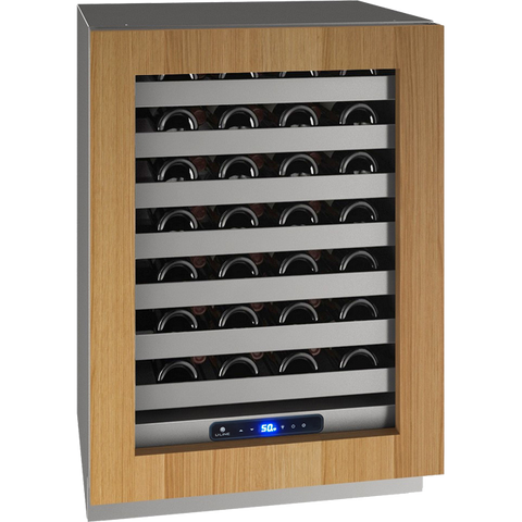 "Image of U-Line- UHWC524-SG01A Wine Cooler 49 Bottles 24"" Wide Single Zone with Reversible Hinge Stainless Doors Class 5 - U-Line - 49 Bottles"